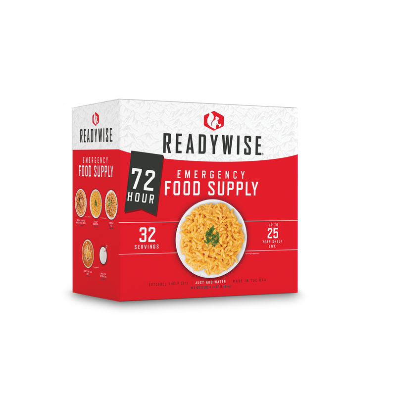 72 Hour Emergency Food and Drink Supply - 32 Servings