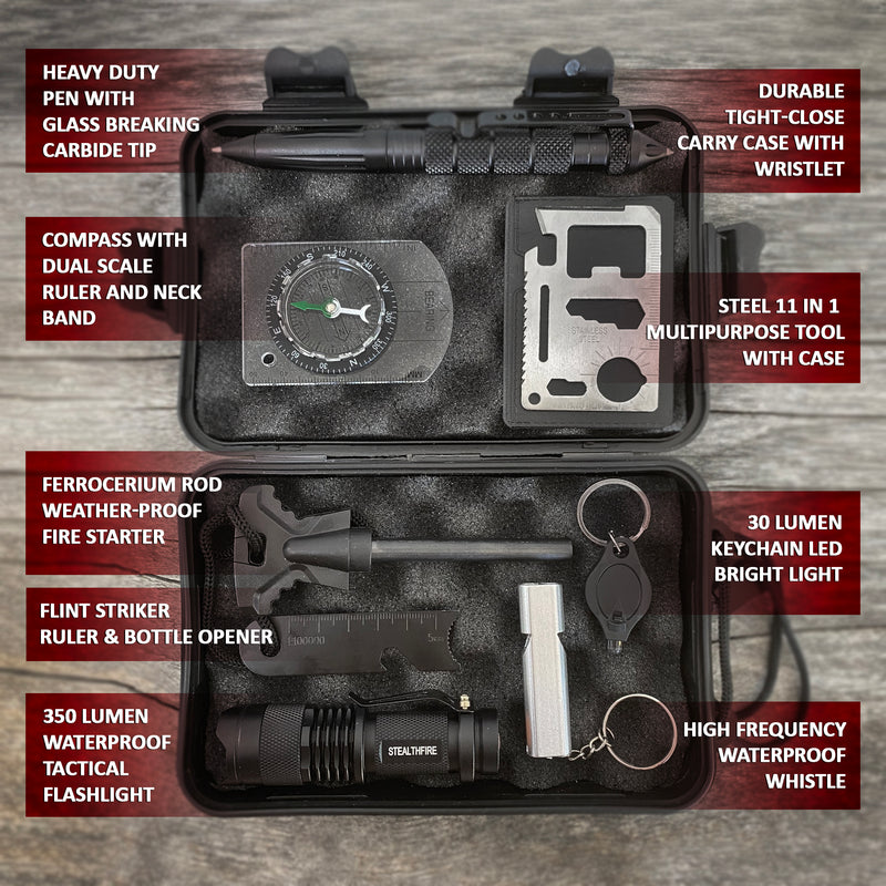 Black Hawk Survival 8 in 1 Tactical EDC Kit - Everyday Carry