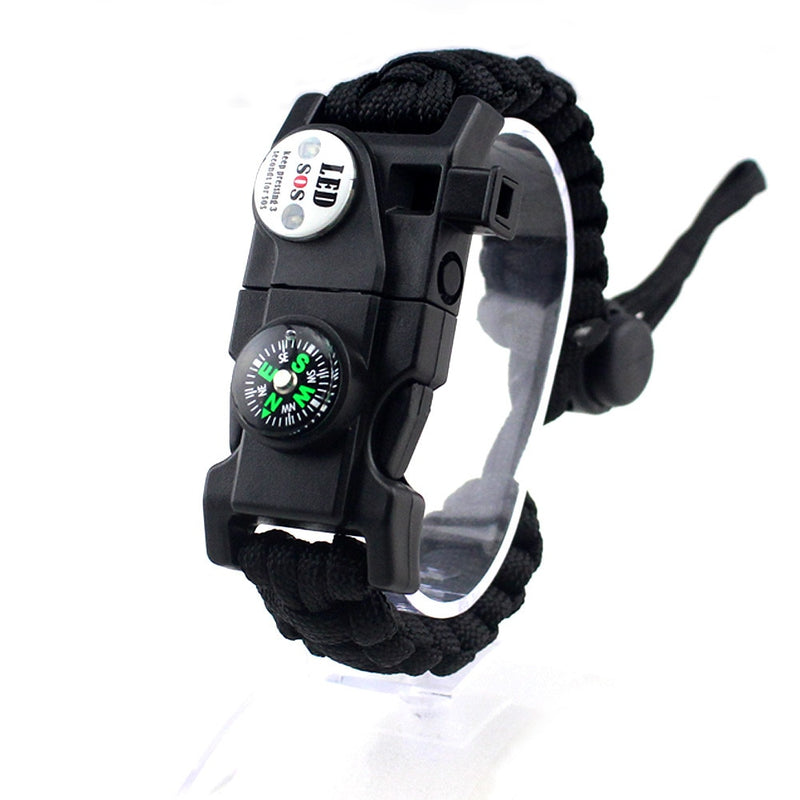 Military Emergency Braided Survival Bracelet With SOS LED Paracord Compass