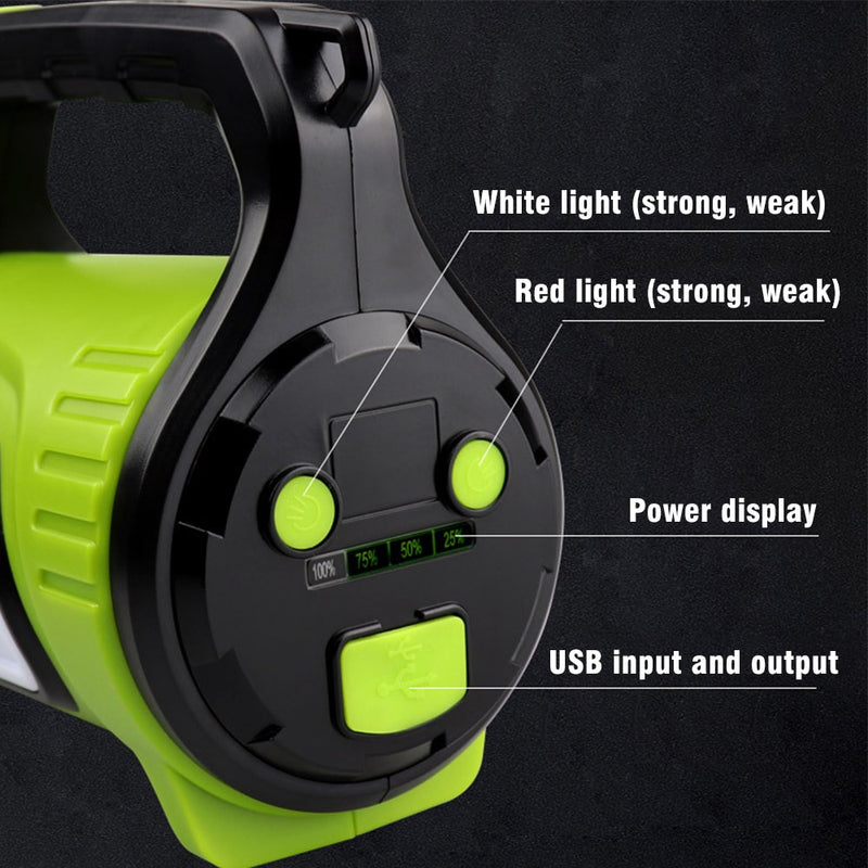 Rechargeable Searchlight LED Emergency Torch Flashlight