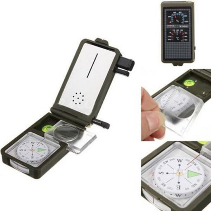 10-in-1 Multi-Function Camping Compass