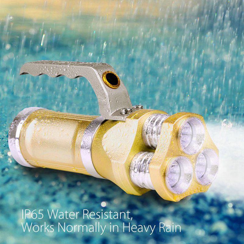 Black Hawk Gold Series Waterproof Rechargeable UltraBright LED Searchlight Flashlight