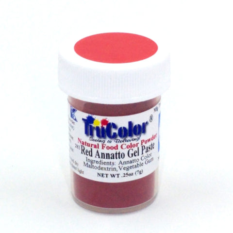 TruColor Gel Paste Natural Food Coloring - Annatto Red 7g