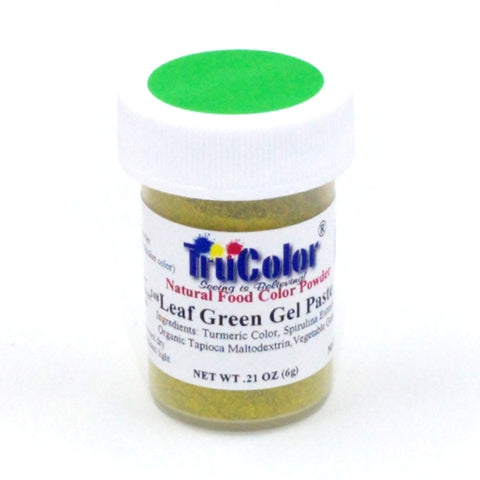 TruColor Gel Paste Natural Food Coloring - Leaf Green 6g