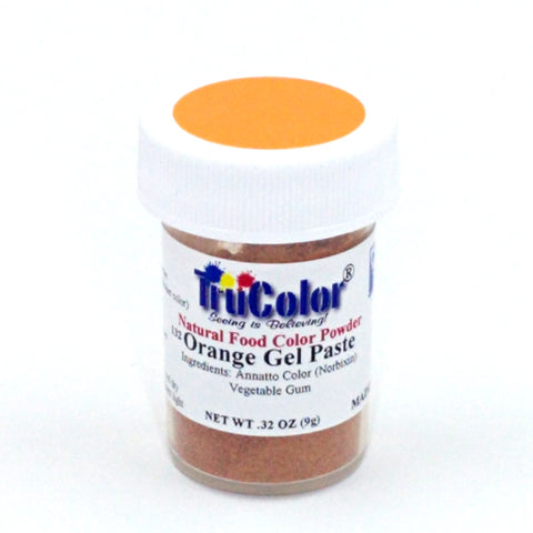 TruColor Gel Paste Natural Food Coloring - Orange 10g