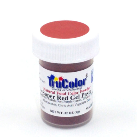 TruColor Gel Paste Natural Food Coloring - Super Red