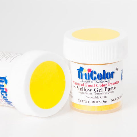 TruColor Gel Paste Natural Food Coloring - Yellow