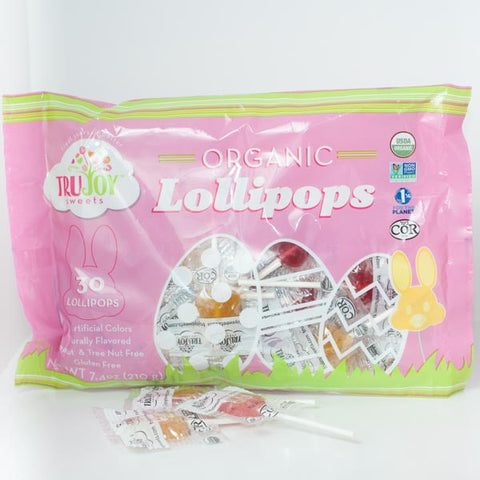 TruJoy Organic Bunny Lollipops - 30 pack