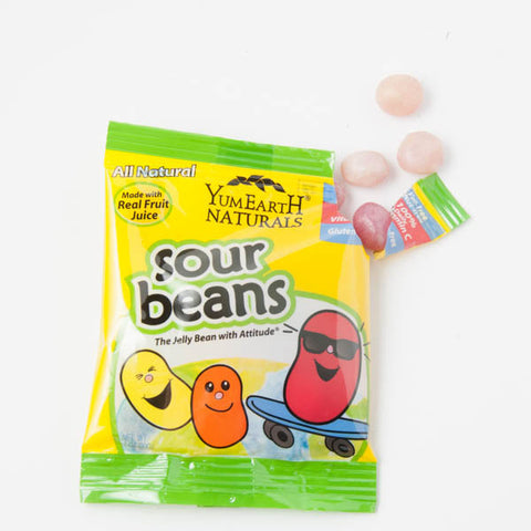 Yummy Earth Sour Beans - 10 snack packs