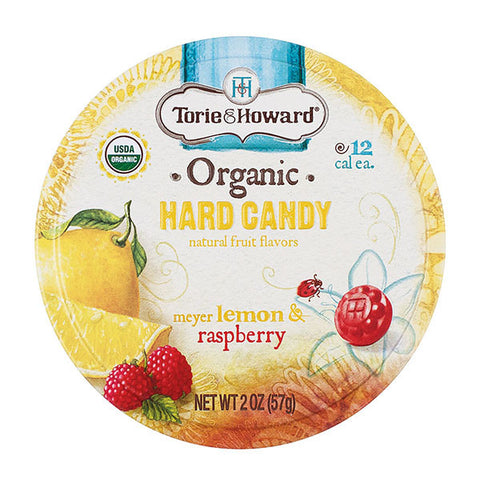 Torie and Howard Hard Candy Tins - Lemon and Raspberry