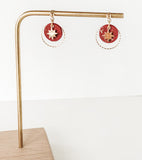 North Star - Gold Flecked Red