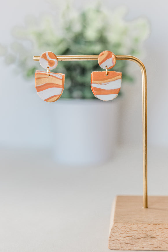#16 Candy Corn Melt Drop Earrings