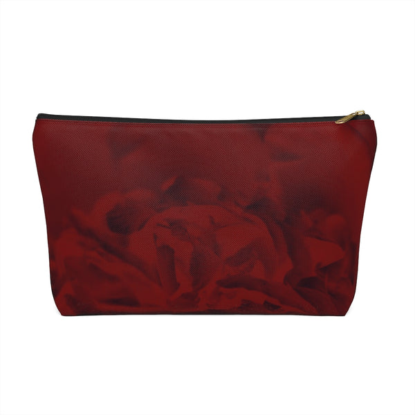 Accessory Pouch w T-bottom in Red Peony - Kindred Photographic Designs by Kindred Photography LLC