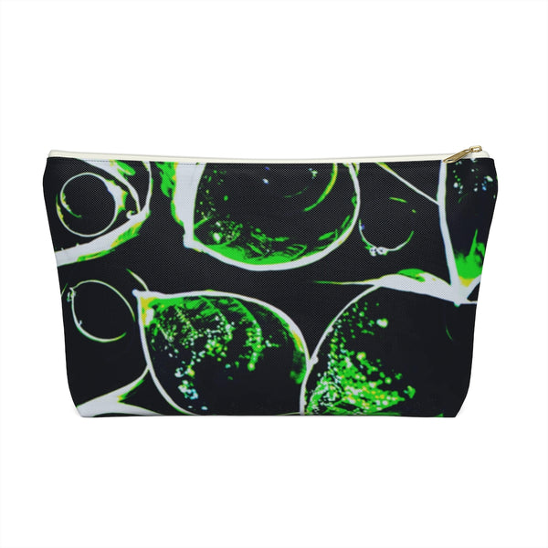 Accessory Pouch w T-bottom in Neon Green Hasta - Kindred Photographic Designs by Kindred Photography LLC