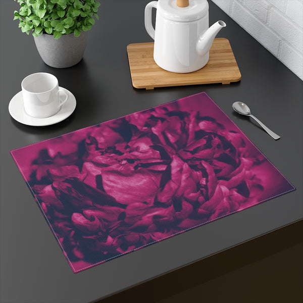 Magenta Peony Placemat - Kindred Photographic Designs by Kindred Photography LLC