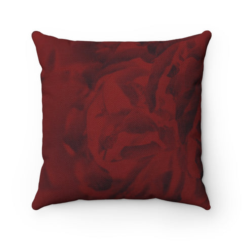 Red Peony Spun Polyester Square Pillow - Kindred Photographic Designs by Kindred Photography LLC