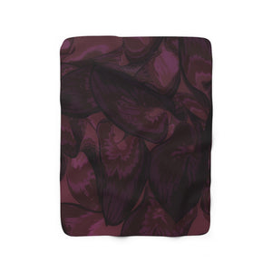 Maroon Hasta Sherpa Fleece Blanket - Kindred Photographic Designs by Kindred Photography LLC