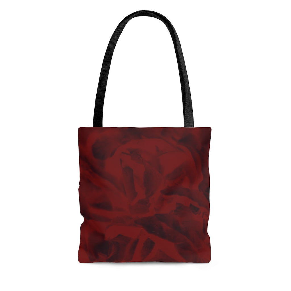 Tote Bag in Red Peony - Kindred Photographic Designs by Kindred Photography LLC