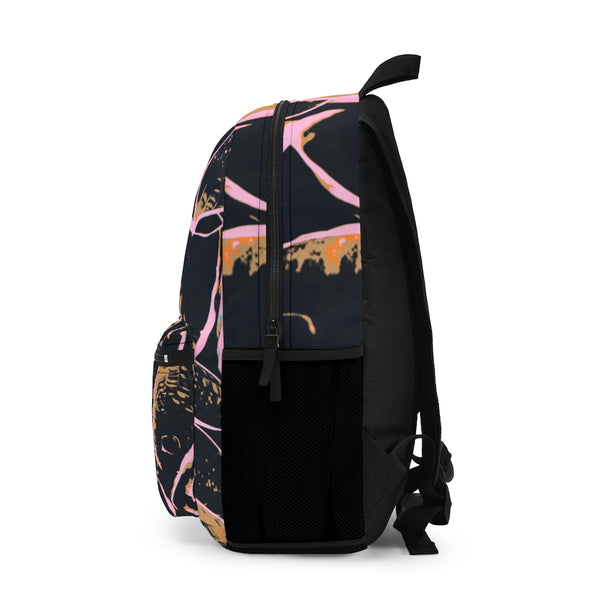 Backpack with Neon Pink Hasta - Kindred Photographic Designs by Kindred Photography LLC