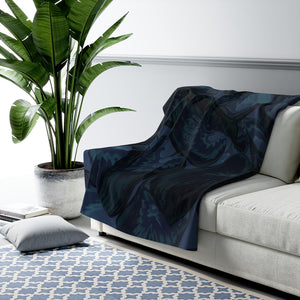 Navy Hasta Sherpa Fleece Blanket - Kindred Photographic Designs by Kindred Photography LLC