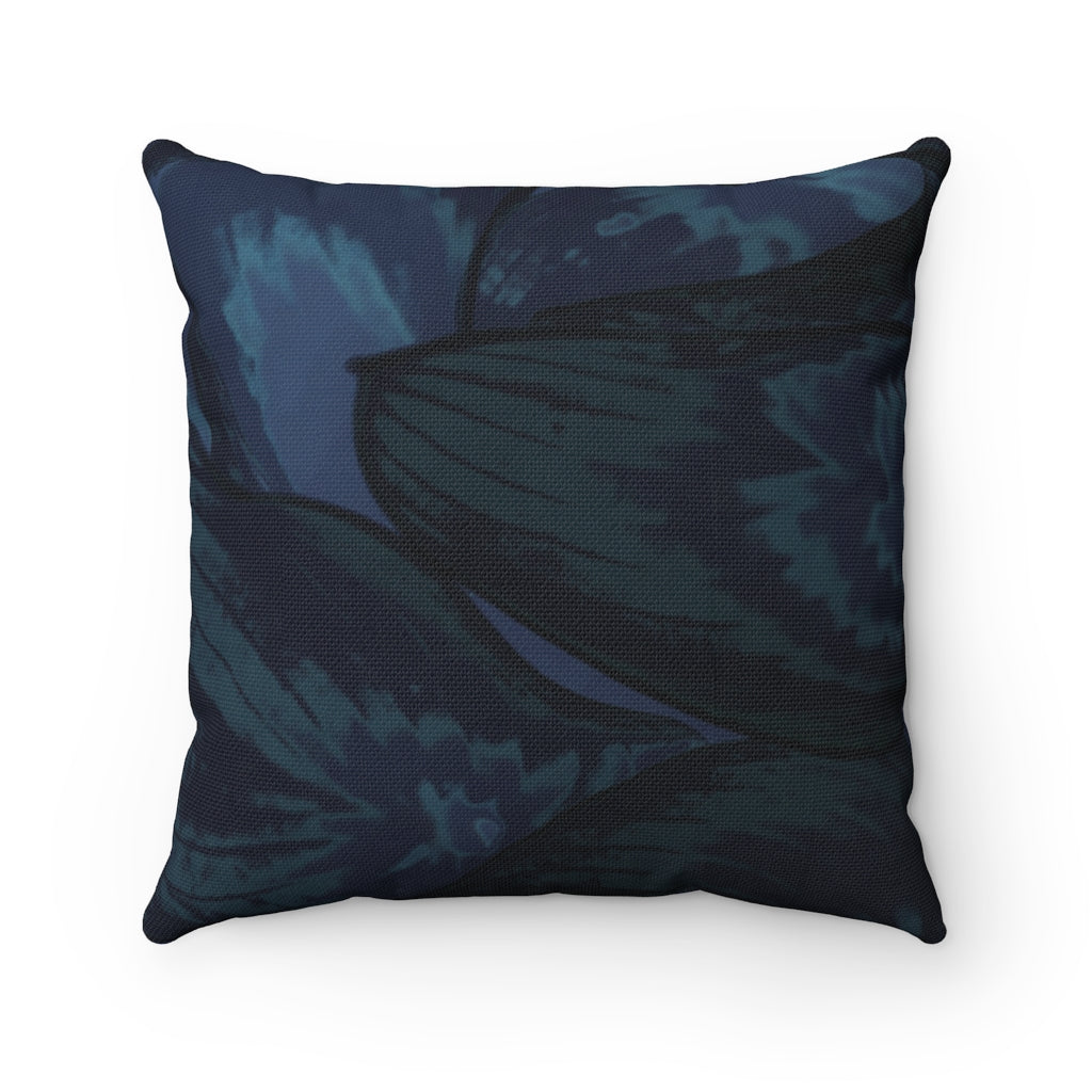 Navy Hasta Spun Polyester Square Pillow - Kindred Photographic Designs by Kindred Photography LLC