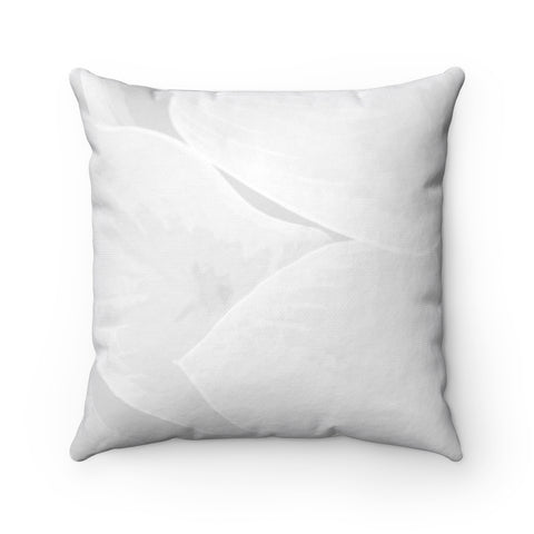 Grey Hasta Spun Polyester Square Pillow - Kindred Photographic Designs by Kindred Photography LLC