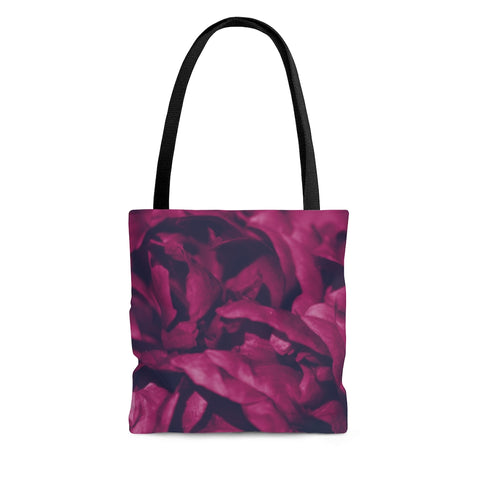 Tote Bag in Magenta Peony - Kindred Photographic Designs by Kindred Photography LLC