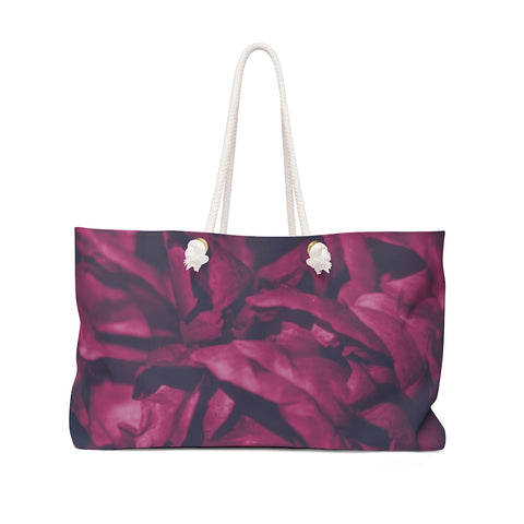 Weekender Bag in Magenta Peony - Kindred Photographic Designs by Kindred Photography LLC