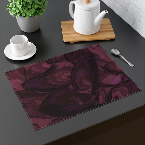 Maroon Hasta Placemat - Kindred Photographic Designs by Kindred Photography LLC