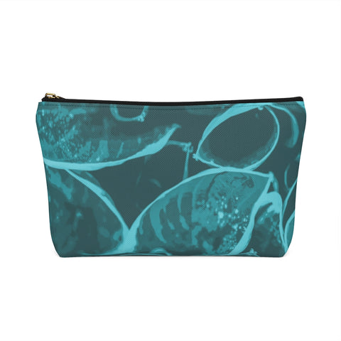 Accessory Pouch w T-bottom in Teal Hasta - Kindred Photographic Designs by Kindred Photography LLC
