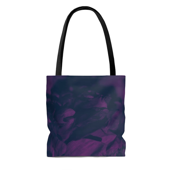 Tote Bag in Navy & Pink Peony - Kindred Photographic Designs by Kindred Photography LLC