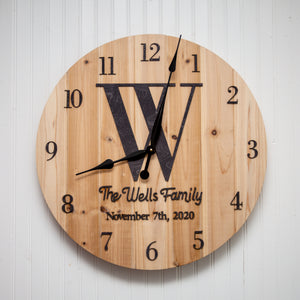 Personalized Wall Clock - Kindred Photographic Designs by Kindred Photography LLC