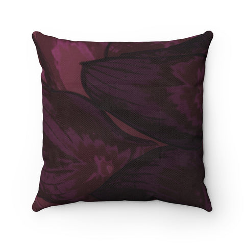 Maroon Hasta Spun Polyester Square Pillow - Kindred Photographic Designs by Kindred Photography LLC