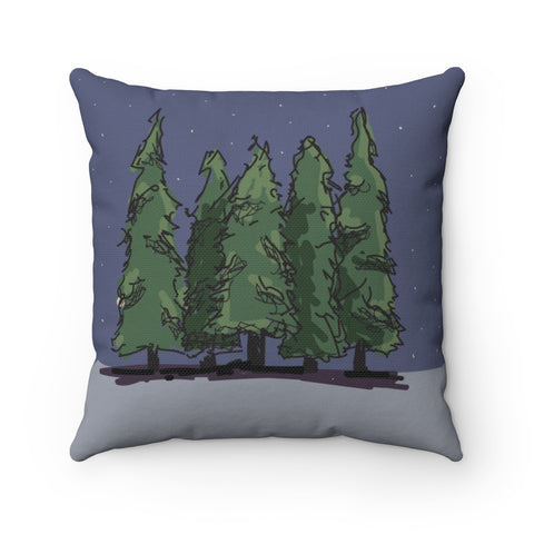 Tree Polyester Square Pillow - Kindred Photographic Designs by Kindred Photography LLC