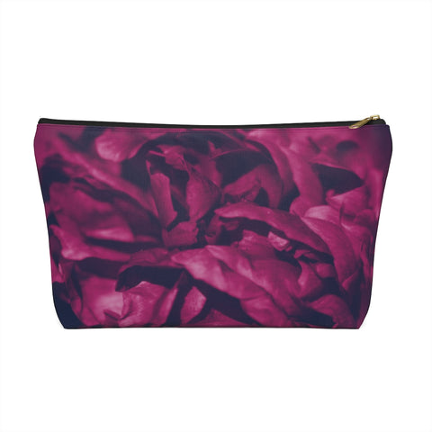 Accessory Pouch w T-bottom in Magenta Peony - Kindred Photographic Designs by Kindred Photography LLC