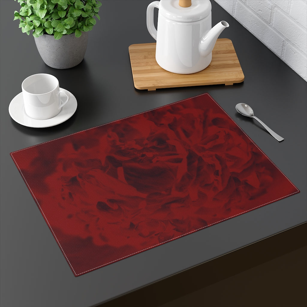 Red Peony Placemat - Kindred Photographic Designs by Kindred Photography LLC