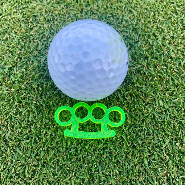 Brass Knuckles Acrylic Golf Ball Marker - Kindred Photographic Designs by Kindred Photography LLC