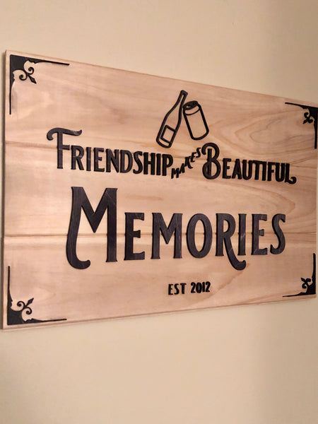 Personalized Wood Friendship Sign - Kindred Photographic Designs by Kindred Photography LLC