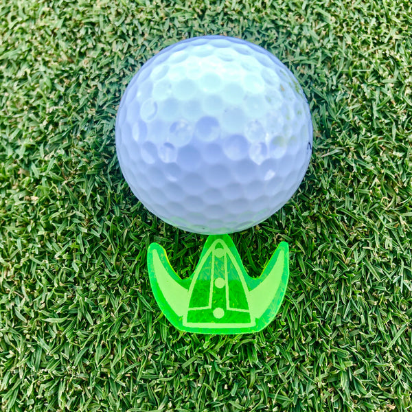 Viking Helmet Acrylic Golf Ball Marker - Kindred Photographic Designs by Kindred Photography LLC