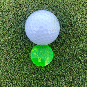 GOAT Acrylic Golf Ball Marker - Kindred Photographic Designs by Kindred Photography LLC