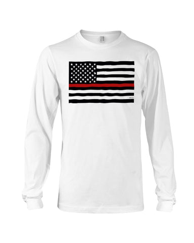 Fire Fighter's Flag Long Sleeve T-Shirt - Kindred Photographic Designs by Kindred Photography LLC