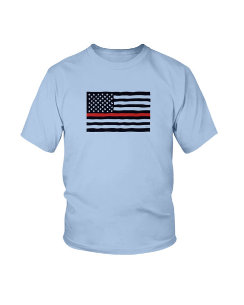 Firefighter's Flag Youth Tee - Kindred Photographic Designs by Kindred Photography LLC