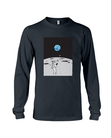 Moon Golf Long Sleeve T-Shirt - Kindred Photographic Designs by Kindred Photography LLC