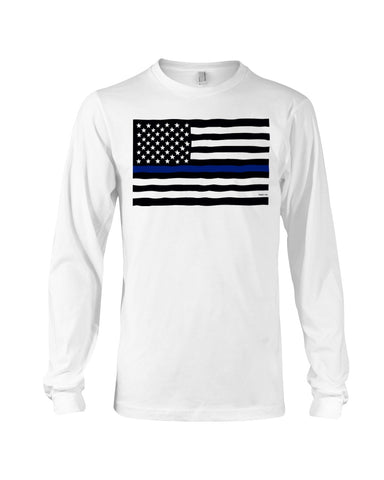 Police Flag Long Sleeve T-Shirt - Kindred Photographic Designs by Kindred Photography LLC