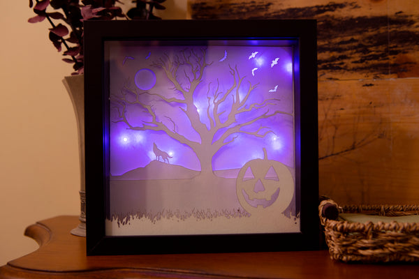 Halloween Lit Shadow Box Art / Night light / Decor - Kindred Photographic Designs by Kindred Photography LLC