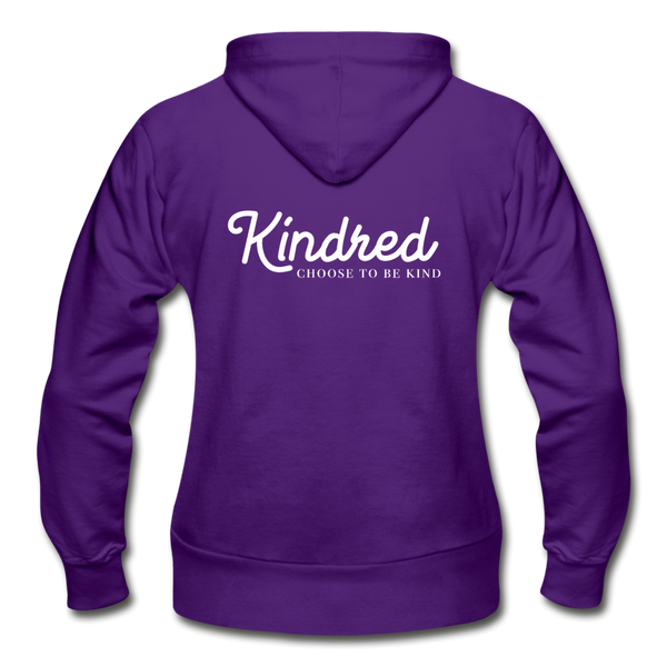 Choose to Be Kind Heavy Blend Women's Zip Hoodie - Kindred Photographic Designs by Kindred Photography LLC
