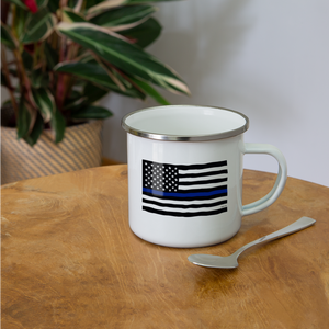 Police Flag Camper Mug - Kindred Photographic Designs by Kindred Photography LLC