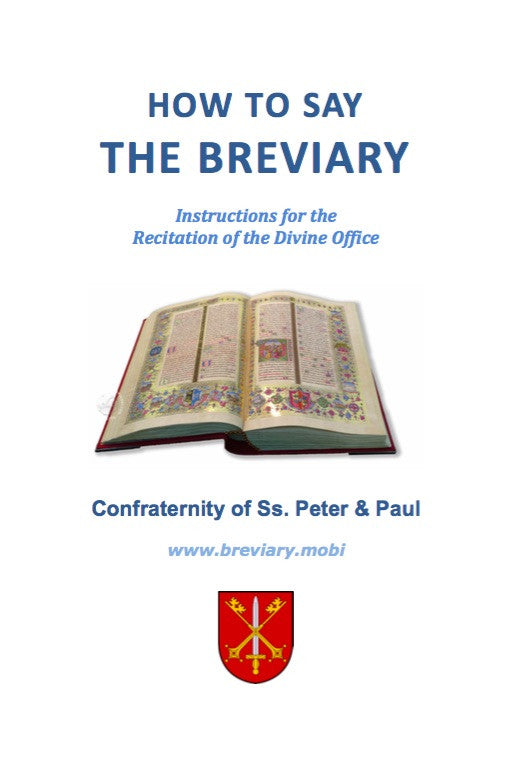 How To Say The Breviary