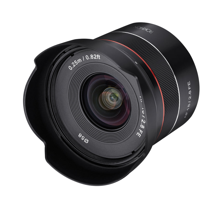 18mm F2.8 AF Compact Full Frame Super Wide Angle with Lens Station (Sony E)