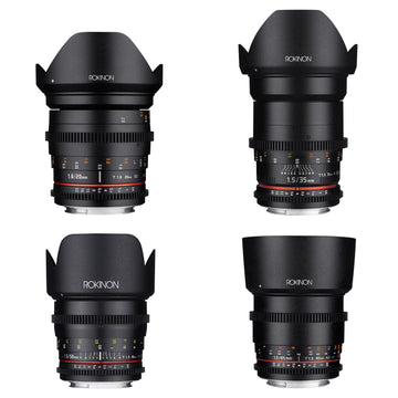 20, 35, 50, 85mm Cine DS Lens Bundle